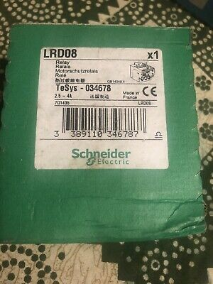 LRD08 TeSys thermal overload relay schneider telemecanique new