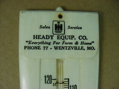 RARE 1940's Vintage INTERNATIONAL HARVESTER Old Wentzville MO Thermometer Sign