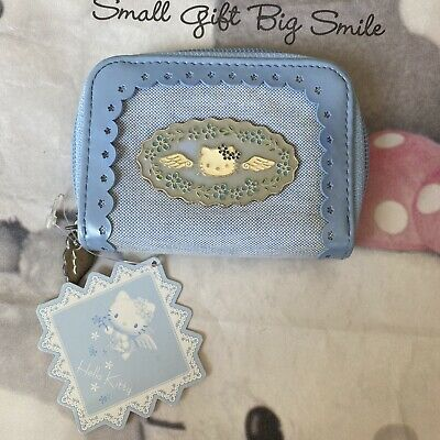 Sanrio 2000 Vintage Hello Kitty Blue Angel Wings Coin Purse Wallet