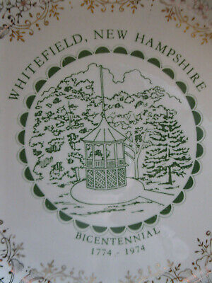 Vintage WHITEFIELD, NH NEW HAMPSHIRE Bicentennial Commemorative Plate