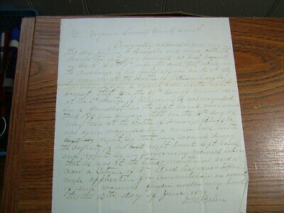 Document from Wounded Civil War Soldier Virginia 24th Reg. for Disability