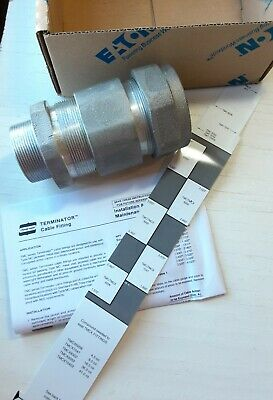 """Eaton Crouse Hinds TMC6206 2"""" Armored Cable Gland Terminator Grip Connector"""