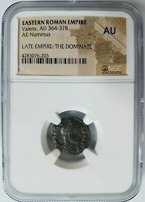Valens The Dominate Eastern Roman Empire NGC AU Ancient Late Empire BI AE Nummus