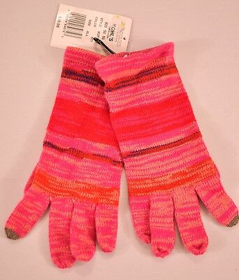 women's Touch & Go gloves pink stripe one size smart phone touch finger MSR $30