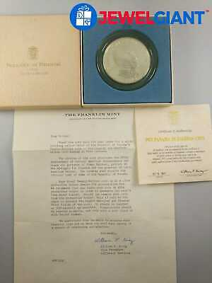 1973 PANAMA 20 BALBOAS COIN IN BOX 2000 GRAINS OF STERLING SILVER  #bj009