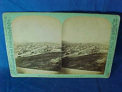 Orig 1880s ITHACA NY + Vicinity STEREOVIEW PHOTO Card BIRDSEYE VIEW of CITY
