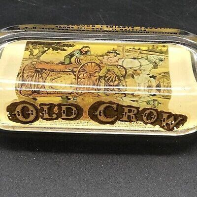 Antique Vintage 'Old Crow' Paperweight Whiskey Kentucky Rare