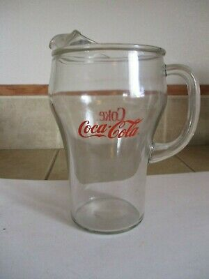 Vintage Coca Cola 2 qt. Pitcher-Clear Glass