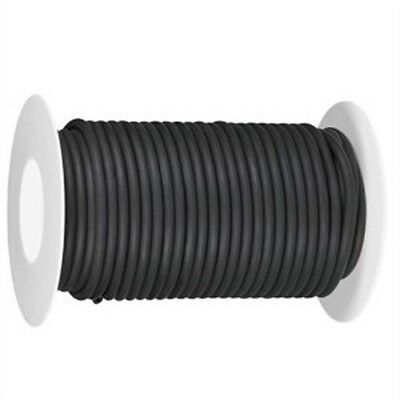 50 CONTINUOUS FEET 1/4 ID 3/8 OD 1/16 wa LATEX TUBING SURGICAL RUBBER BLACK roll