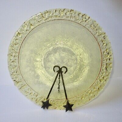 """🍋NEW CITRUS Moonstone 14"""" Platter by Fire and Light Art, recycled glass.🍋"""