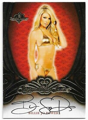2015 Benchwarmer Signature Series Billie Jo Powers Red Back Autograph Auto Card