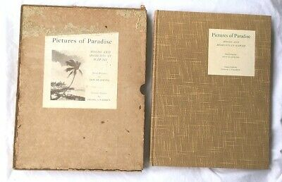 "1936 DON BLANDING ""Pictures of Paradise"" Old Hawaiian book Hawaii antique photo"