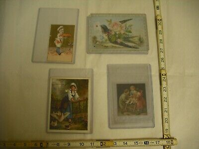 Antique Lithograph Victorian Trade Card - Lot of 4
