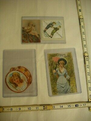 Antique Lithographed Victorian Trade Cards - Lot of 4