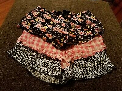 NEW LOT OF 3 Women's Size XL sleep leisure shorts floral