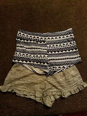 NEW LOT OF 2 Women's Size S sleep leisure shorts gray