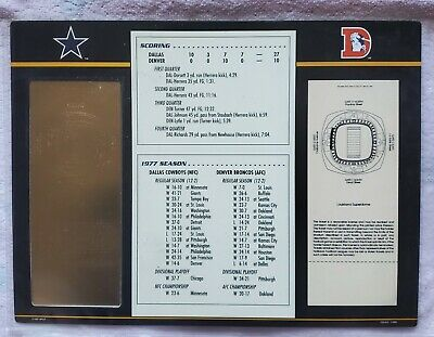 SUPER BOWL 12 DALLAS COWBOYS vs BRONCOS Willabee & Ward 22KT GOLD TICKET  SB XII