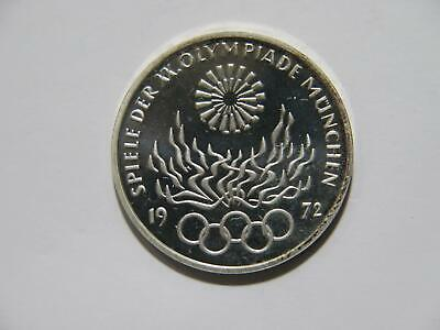 Germany 1972 F 10 Mark Olympiad Olympic Flame Proof Silver World Coin 🌈⭐🌈