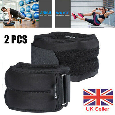2*Ankle Weights Adjustable Leg Wrist Straps Running Boxing Braclets Training Gym