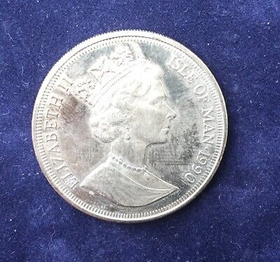 ISLE OF MAN 1990 - 90th BIRTHDAY OF THE QUEEN MOTHER SILVER CROWN