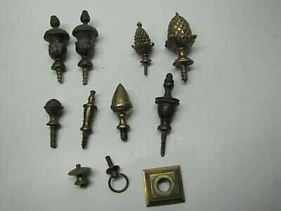 11 x Clock Finials and parts for Bracket Clocks (PC)