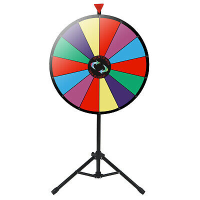"24"" Adjustable Height Prize Wheel Tripod Floor Stand Editable Dry Erase Color"