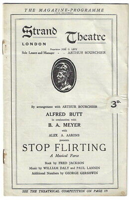 """1924 Fred Astaire theatre programme 450th perf of """"Stop Flirting"""" in London"""