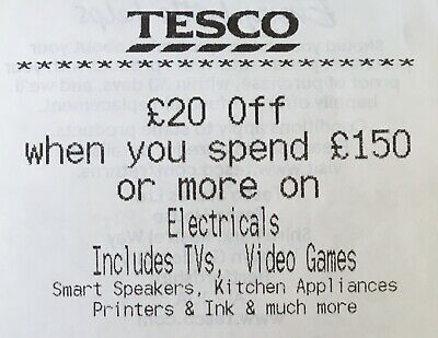 £20 Off Tesco Voucher When You Spend £150 Or More On Electricals Until 14/06/20