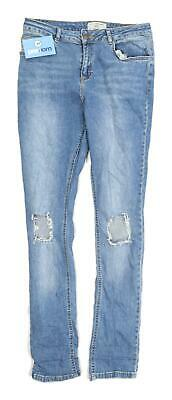 New Look Girls Blue Distressed Jeans Age 15