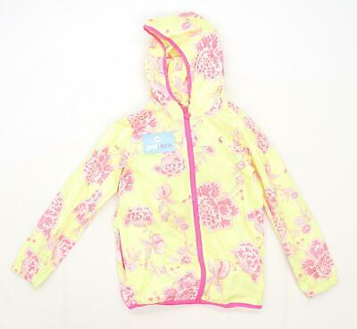 Joules Girls Floral Yellow Raincoat Coat Age 9-10