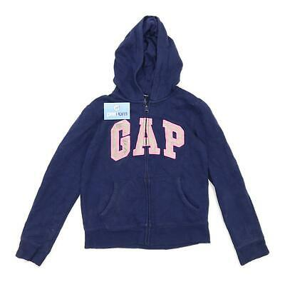 Gap Girls Graphic Blue Zip Up Hoodie Age 13