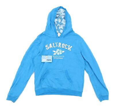 Saltrock Girls Graphic Blue Hoodie Age 11-12
