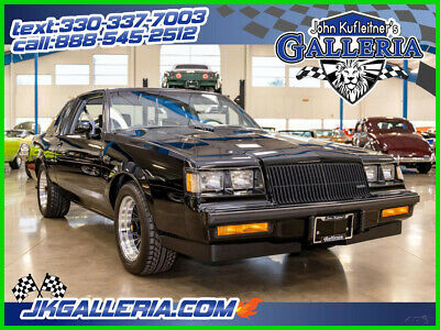 1987 Buick Regal Grand National Turbo 1987 Grand National Turbo Used Turbo 3.8L V6 12V Automatic RWD Coupe
