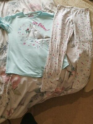 Girls Clothes Matalan 2 Piece Pyjamas Set Age 13 Years Unicorn