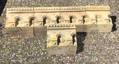 Unusual Large Antique Architectural Pottery Tiles Forming A Victorian Cornice