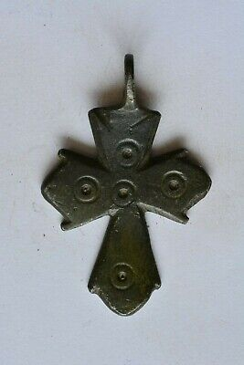 Medieval bronze cross Crusader & Templar era 11-13th century AD.