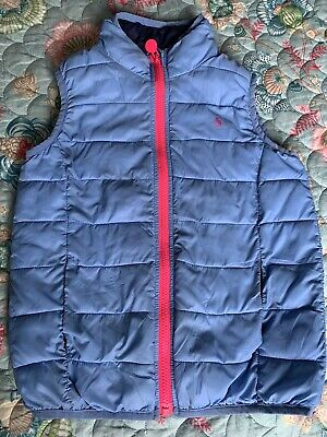 Joules Packaway Girls Age 8 Years Lightweight Gilet Body Warmer Powder Blue
