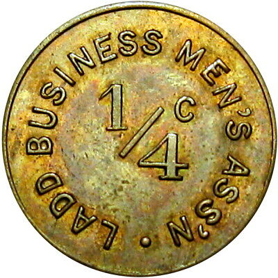 Ladd Illinois Sales Tax Good For Token Ladd Business Men's Assn 1/4 Cent Scarce