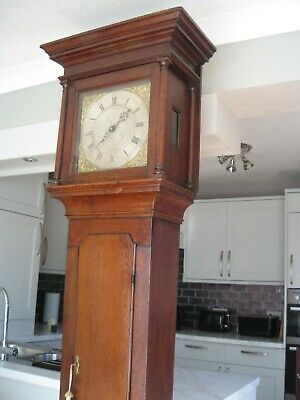 Antique Original Early Grandfather Clock 30 Hour 1775-80 William Prestidge Clock