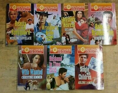 7 SILHOUETTE FORTUNE'S CHILDREN BOOKS  by VARIOUS AUTHOR  ** £3.25 UK POST ** PB
