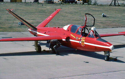 Original 35mm Aircraft slide  MT31  Fouga CM.170R Magister Greenham Common 1976