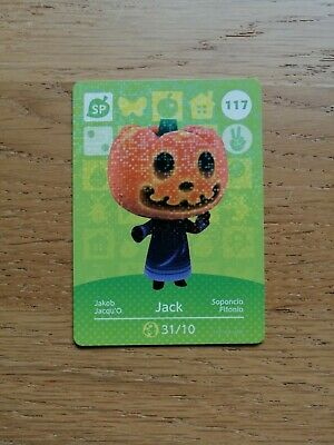 Jack 117 - Official Animal Crossing Amiibo Card Series 2 New Horizons Unscanned