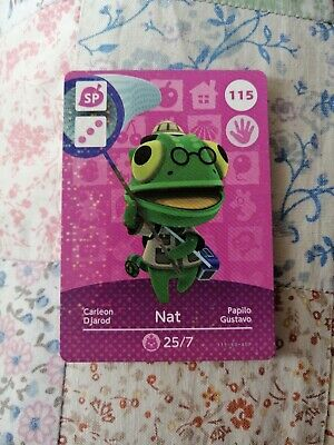 Nat 115 - Official Animal Crossing Amiibo Card Series 2 New Horizons Unscanned