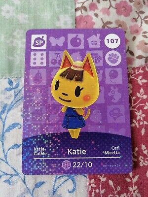 107 Katie - Official Animal Crossing Amiibo Card Series 2 New Horizons Unscanned