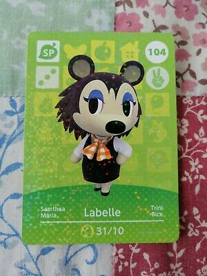 Labelle 104 - Official Animal Crossing Amiibo Card Series 2 New Horizons Mint