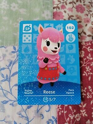 Reese 102 - Official Animal Crossing Amiibo Card Series 2 New Horizons Unscanned