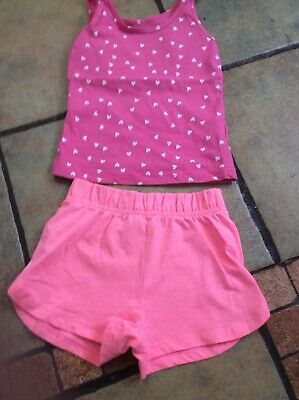 Girls Shorts And Tshirt Set Age 2.3 Yrs George &primark