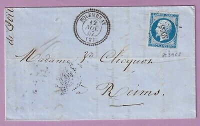 N°14 Pc 3963 Folembray Cad Type 22 Aisne Reims Marne Lettre Cover