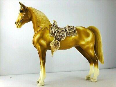 Vintage Breyer Horse Mold No. 57 Tan Palomino with Removable Saddle