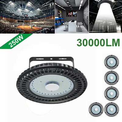 6X 250W UFO LED High Bay Light lamp Factory Warehouse office Roof Shed Lighting